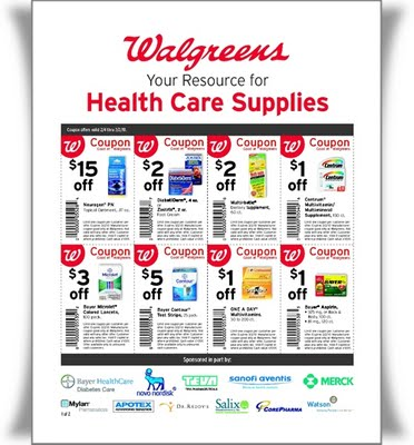 Coupon Flyer | New Walgreens Health Care Supplies Coupon Flyer Kroger Krazy