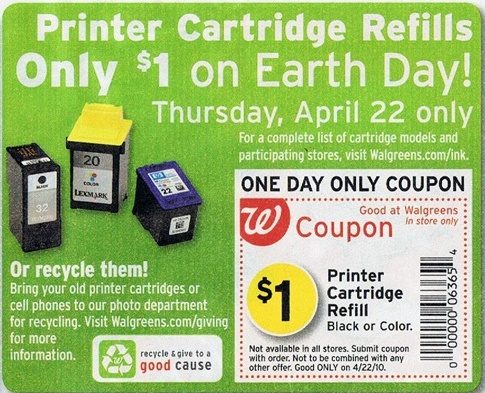 Printer ink coupons