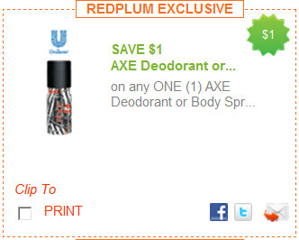 1 00 1 Axe Deodorant Or Body Spray Free Travel Size