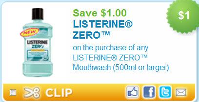 Listerine zero printable coupons