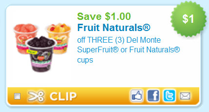 image regarding Del Monte Printable Coupons named Coupon for del monte fruit naturals - Corner bakery discount coupons