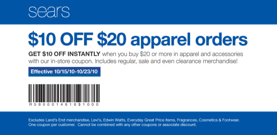 Sears coupons online discount codes