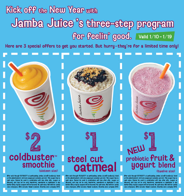 Discount coupons for jamba juice