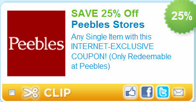 peebles printable coupons peebles stage goody 85 clearance 25 23925 | peebles 25 off
