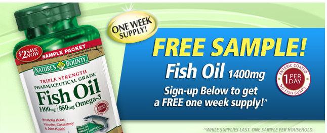 Free sample of nature 39 s bounty fish oil kroger krazy for Fish sauce kroger