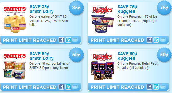 photo regarding Smiths Coupons Printable titled Fresh new Printables! Smiths Milk, Ruggles, Newmans Individual, Truvia