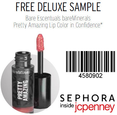 graphic about Bare Minerals Printable Coupon named Cost-free bareMinerals Extremely Incredible Lip Colour Pattern at Sephora