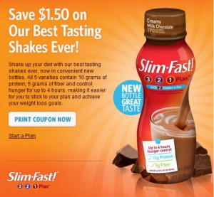 Slim fast shakes coupons
