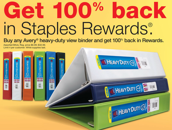 staples free avery binders after rewards kroger krazy
