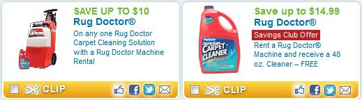 To Go Along With That, If You Join The Coupons.com Savings Club You Will  Also Have Access To Another Great Coupon For A FREE Rug Doctor Cleaner (up  To ...