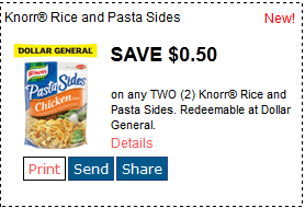 Use these manufacturer coupons for Knorr products and always have a meal ready to go. Choose from a variety of meal sides, savory stocks, recipe mixes, gravies, sauces and bouillon. Make delicious dinners like Creamy Garlic Shells with Knorr's Italian Sides or Chicken Caprese with Knorr.