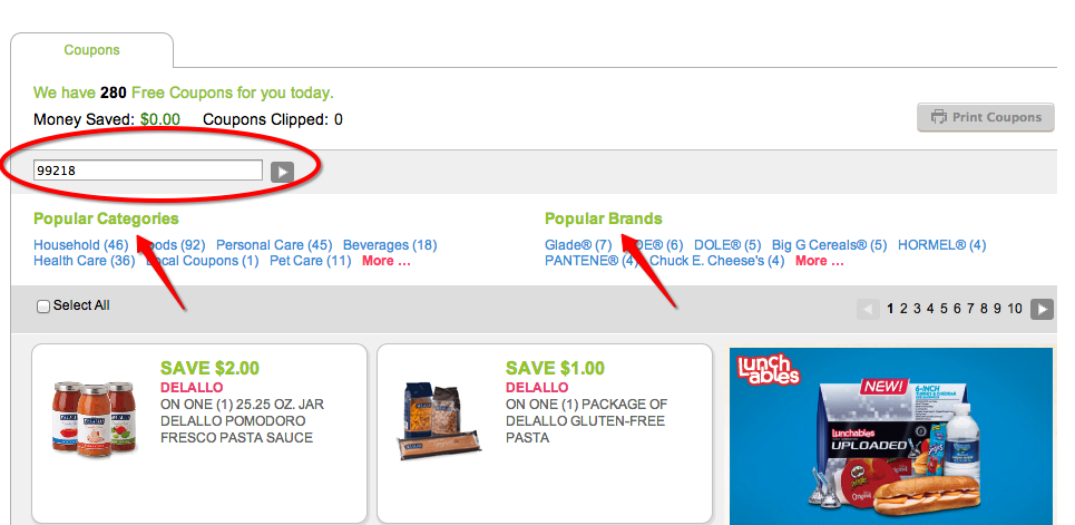 Coupons.com Printable Coupon