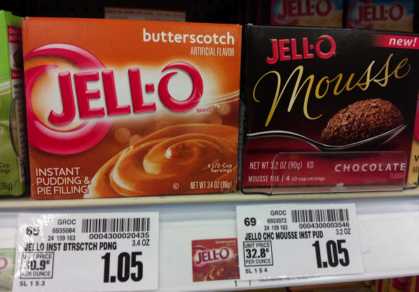 Jell o gelatin or pudding boxes only at kroger for Does swedish fish have gelatin