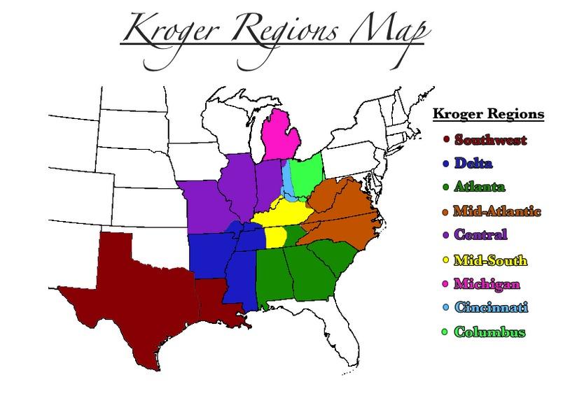 Kroger Regions Map