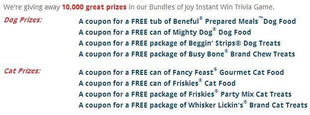 joyful pet moments prizes