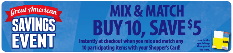 Kroger Mega Event Full Inclusions List