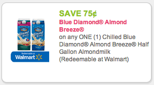 A new Almond Breeze coupon is out for $1 off Blue Diamond chilled almond milk. It's part of the Kroger Mega Event this week making it for 99¢! A new Almond Breeze coupon is out for $1 off Blue Diamond chilled almond milk. It's part of the Kroger Mega Event this week making it for 99¢!