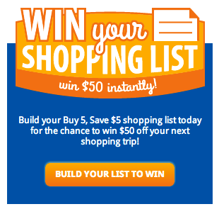 win your shopping list