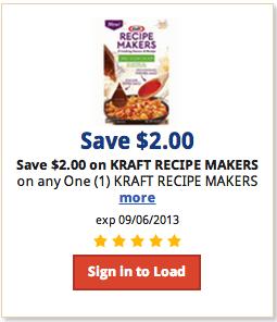Kraft Recipe Makers coupon