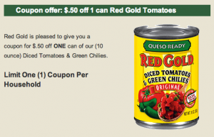 red gold tomatoes coupon