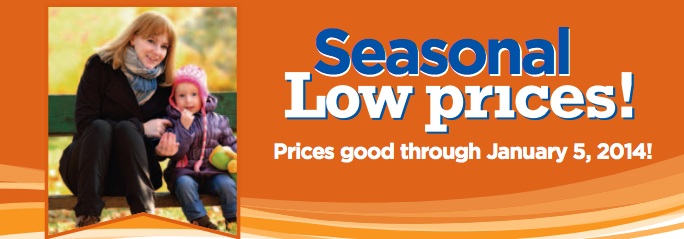 seasonal low prices