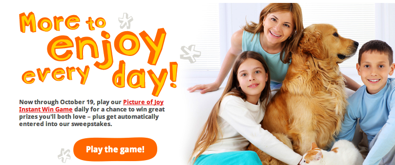 Purina Picture of Joy Instant Win Game