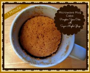 Microwave Mug Pumpkin Spice Cake