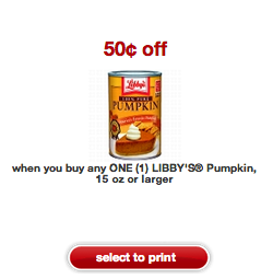 Libby's Canned Pumpkin coupon