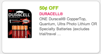 Duracell batteries coupons printable 2019