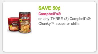 Chunky soup coupons
