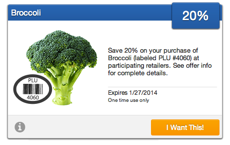 Broccoli Coupon