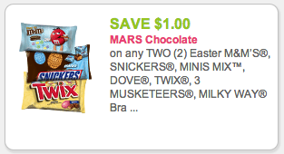 NEW Mars Candy Coupon