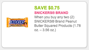 Snickers Peanut Butter Squared Coupon