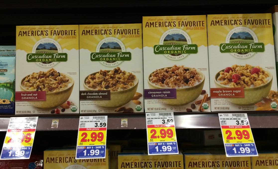 Cascadian Farms Granola Cereal