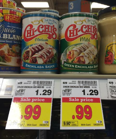 Chi chi 39 s enchilada sauce only at kroger kroger krazy for Fish sauce kroger