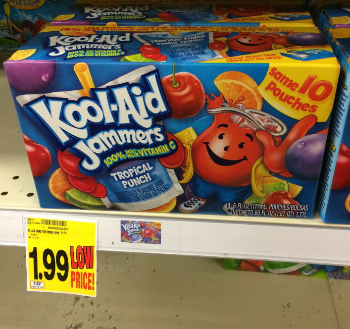 Grab A Sammie And A Kool Aid: Kool-Aid Jammers ONLY $1.49 At Kroger ($0.99 If Doubled