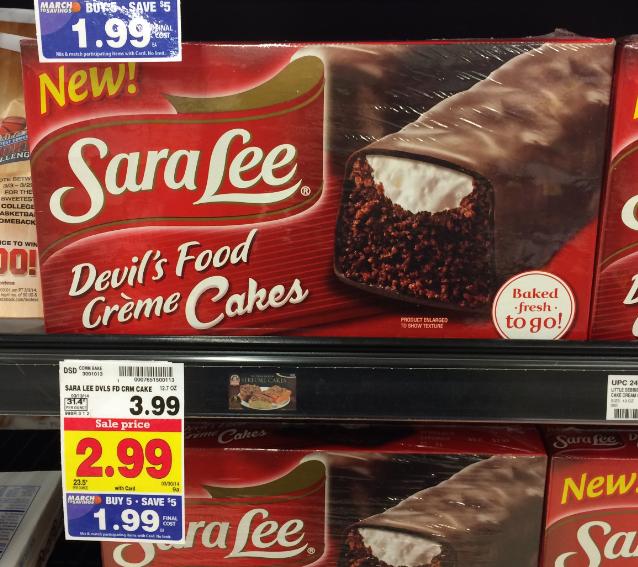 Sara Lee Snack Cakes coupon
