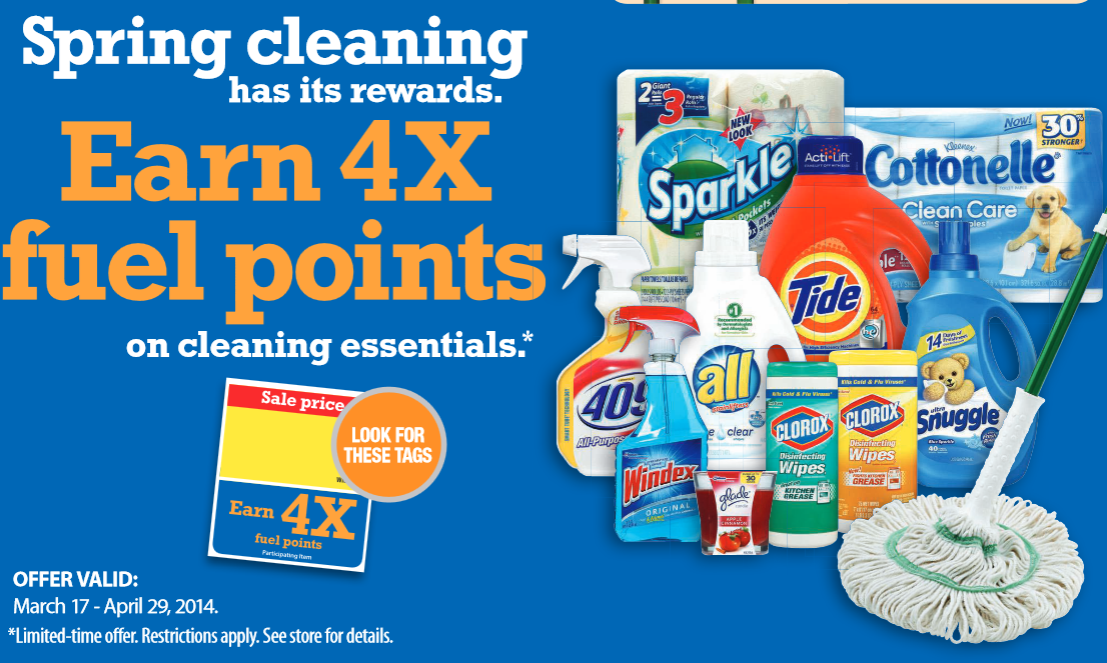 Spring Cleaning 4X Fuel Rewards