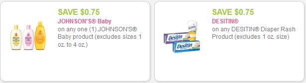 Desitin and Johnson's