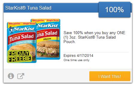 FREE StarKist Tuna Pouch
