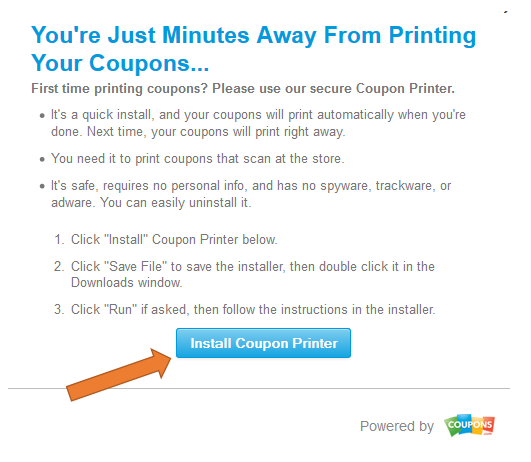 Problems installing coupon printer