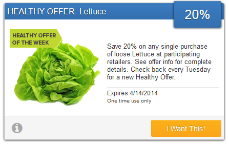 Lettuce Coupon
