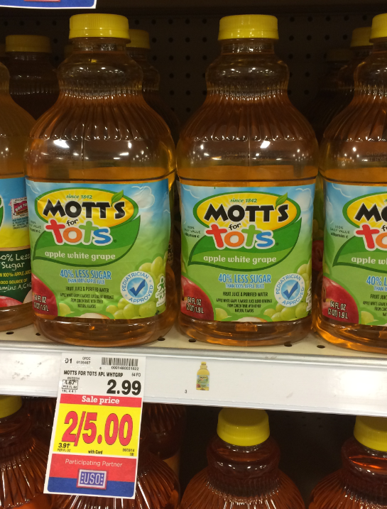 Motts for Tots Kroger