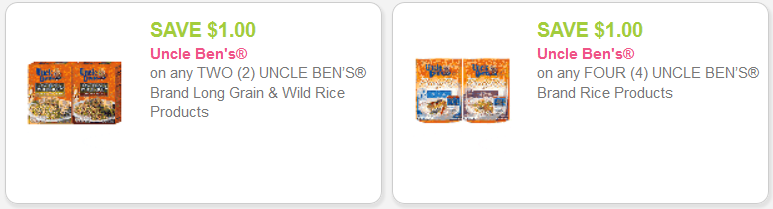 Uncle Ben's Rice Coupons