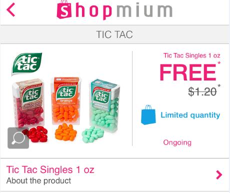shopmium tic tac