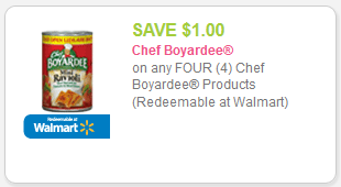 About Chef Boyardee Be sure to sign up for email alerts or add them to your list, so you'll always be the first to know when more Chef Boyardee coupons arrive!