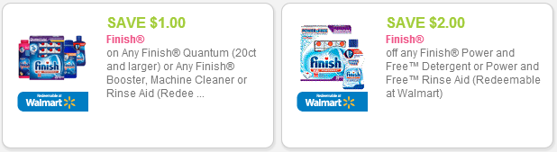 Finish detergent coupons
