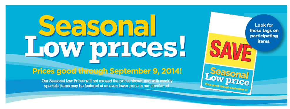 Kroger Seasonal Low Prices