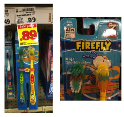 Firefly Kids' Toothbrushes Kroger