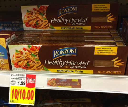 Ronzoni Healthy Harvest Pasta Kroger